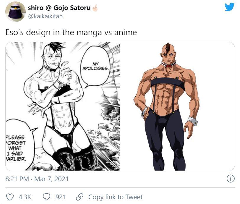 Jujutsu Kaisen aplica una censura contra un personaje del manga y aquí el motivo.
