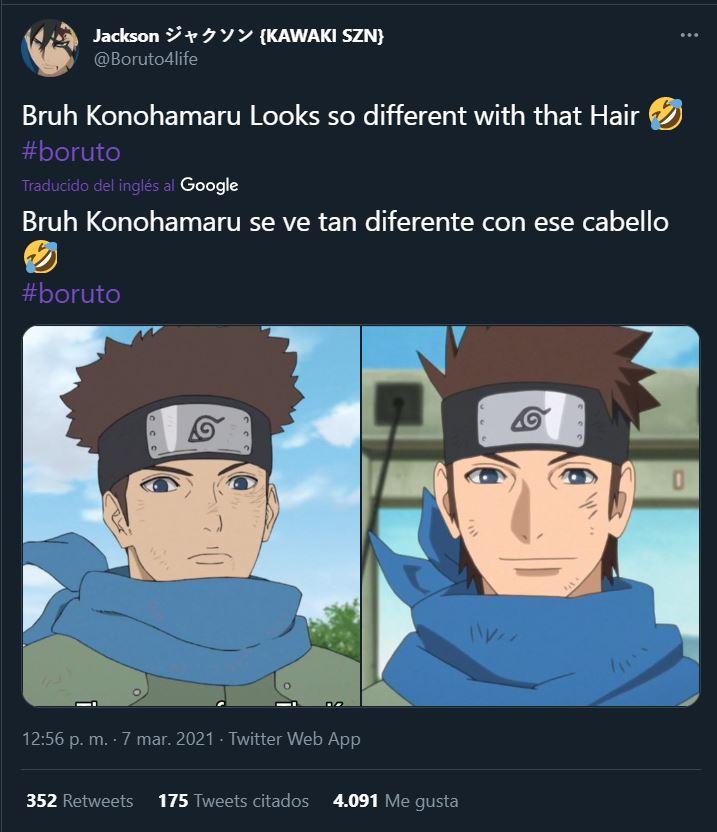 Fans de Boruto amaron animación del último capítulo pero reniegan del cabello de Konohamaru